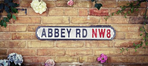 Abbey Rd NW8 Vintage Road Sign / Street Sign